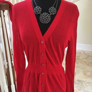 Doncaster (NWT) red cardigan size medium